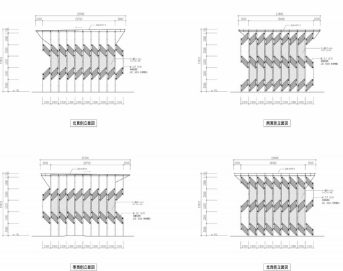 パビリオン棟の立面図(資料:三菱地所設計)