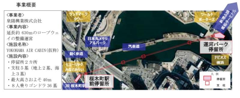 キャビン 横浜 エア 横浜みなとみらいのロープウェイの工事状況