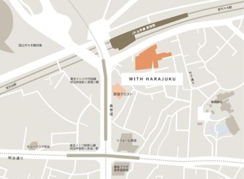 原宿エリアでは最大規模の複合施設になる。地図は右が北(資料:NTT都市開発)