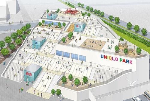 「UNIQLO PARK 横浜ベイサイド店」は、店舗と子どもの遊び場が一体になった施設になる。デザイン監修は藤本壮介建築設計事務所が担当(資料:ユニクロ)