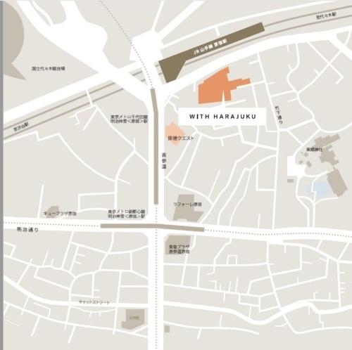 「ラフォーレ原宿」や「表参道ヒルズ」など商業施設のひしめくエリアの中でも、ウィズ原宿は最大規模だ(資料:NTT都市開発)
