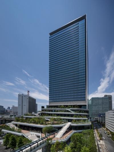 「東京ポートシティ竹芝オフィスタワー」の外観(写真:東急不動産、鹿島)