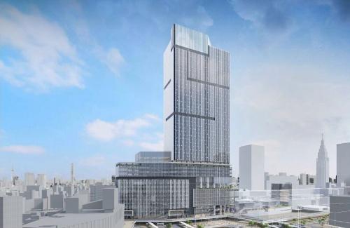 新宿駅西口地区開発計画の建物完成イメージ(資料:小田急電鉄、東京メトロ)