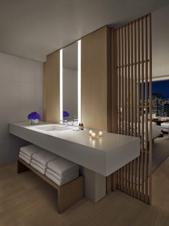 客室の水回り部分のオフィシャルイメージ(写真:マリオット・インターナショナル)