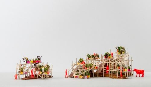 藤原徹平氏の「ストリート・ガーデン・パビリオン(仮)」(資料:パビリオン・トウキョウ2021)