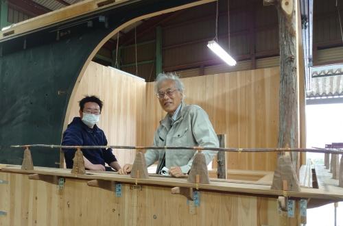 藤森氏はパビリオン制作を楽しんでいる(写真:日経クロステック)