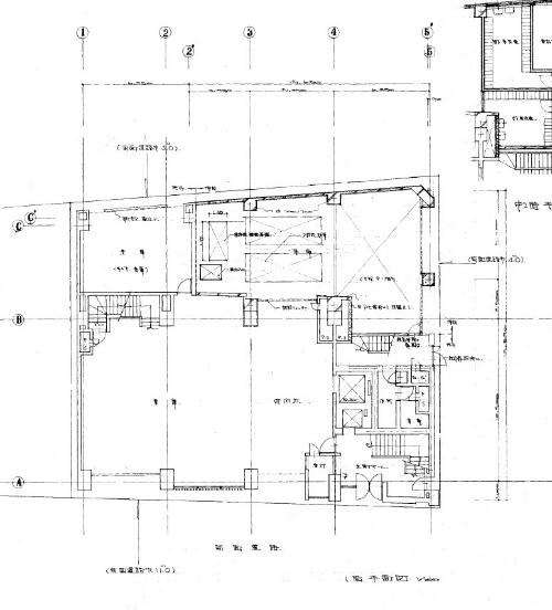 改修前の1階平面図(資料:安田不動産)