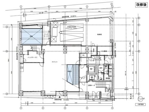 改修後の1階平面図(資料:安田不動産)