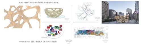 平田晃久氏のパビリオン「Global Bowl」(資料:パビリオン・トウキョウ2021)