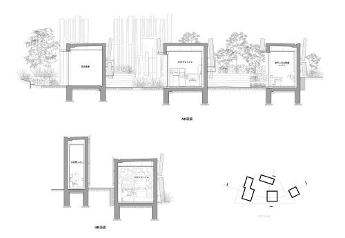 鍋島松濤公園トイレの断面図(資料:大和ハウス工業)