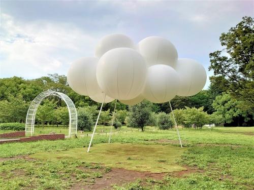 藤本氏の雲のようなパビリオン「Cloud pavilion(雲のパビリオン)」(写真:日経クロステック)