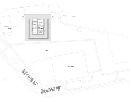 恵比寿駅西口公衆トイレが立つ敷地と周辺の様子(資料:大和ハウス工業)