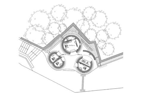 代々木八幡公衆トイレの平面図(資料:大和ハウス工業)