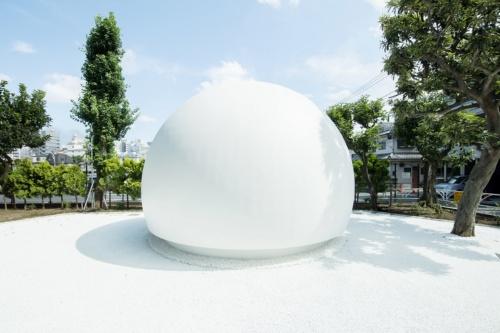 トイレは幡ケ谷にある七号通り公園の中にある(写真:永禮 賢、提供:日本財団)