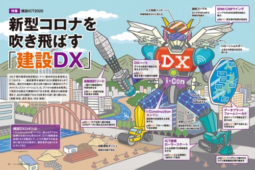 日経コンストラクション2020年6月22日号の特集「新型コロナを吹き飛ばす『建設DX』」(資料:日経コンストラクション)
