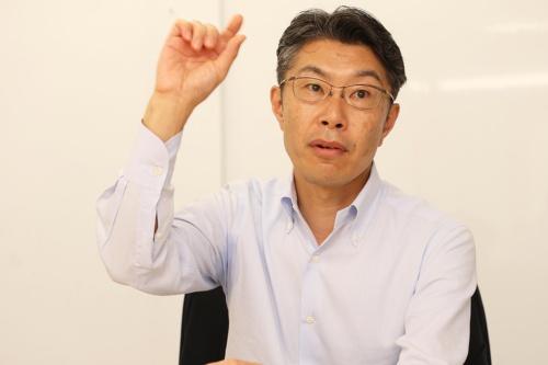 CSRデザイン環境投資顧問の堀江隆一社長(写真:都築雅人)