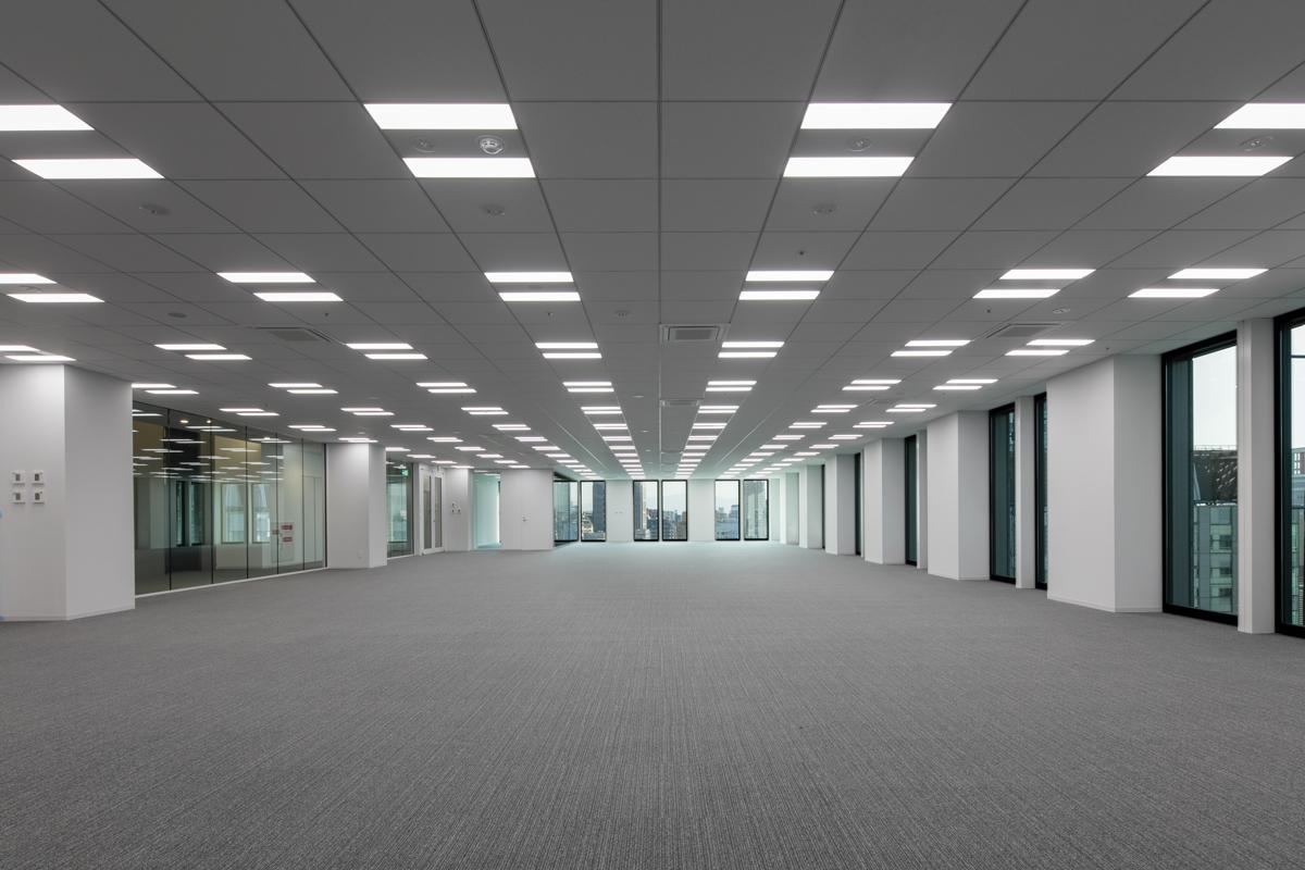 基準階の執務室(写真:近畿産業信用組合)