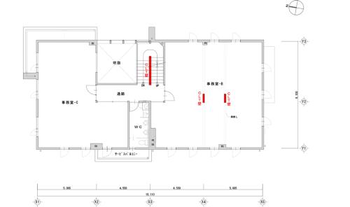2階平面図(資料:加藤設計)