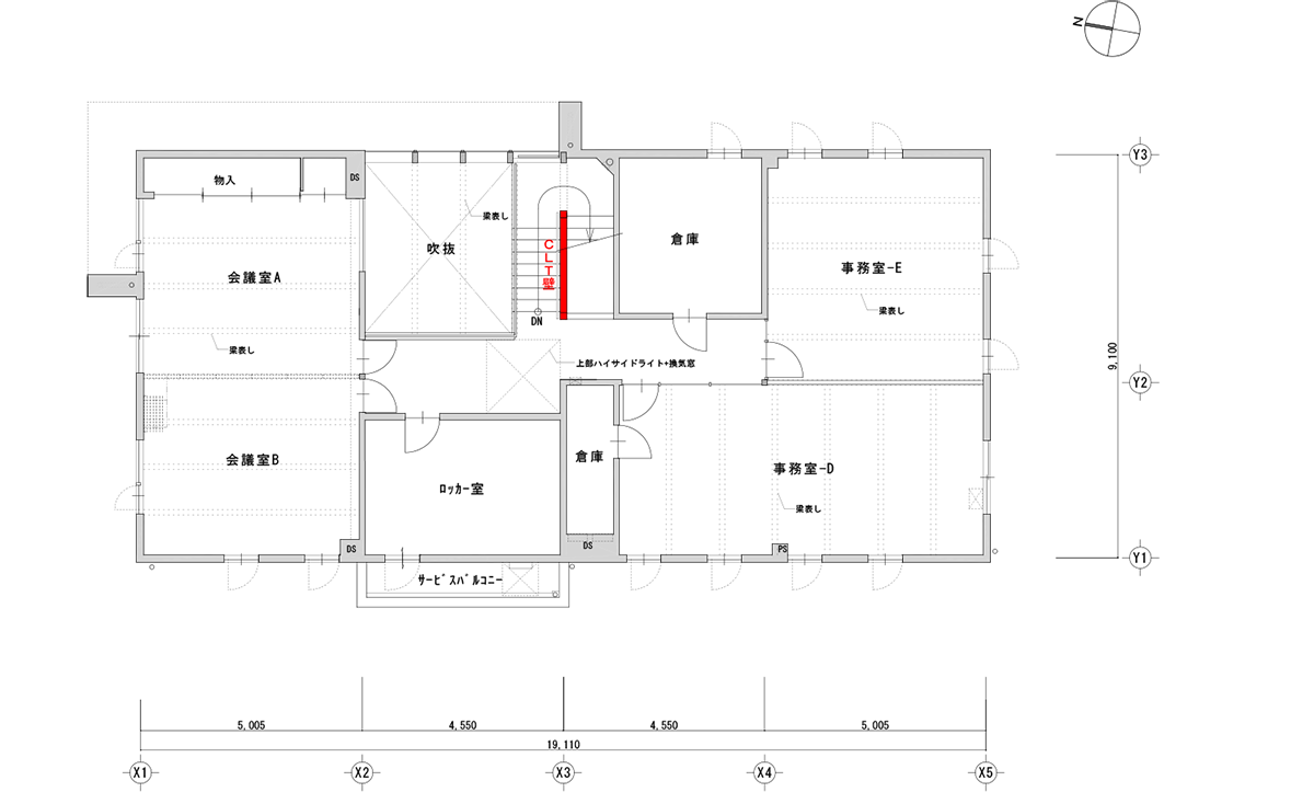 3階平面図(資料:加藤設計)