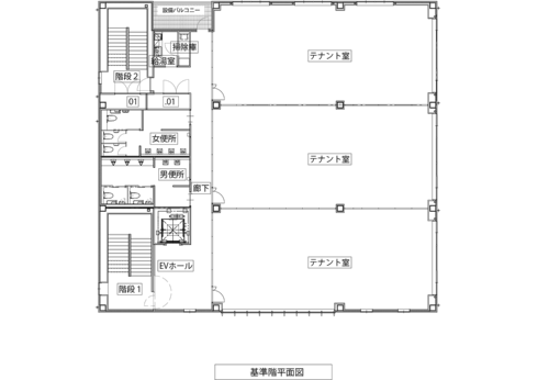 基準階平面図(資料:久慈設計)