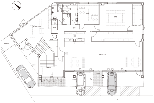 エコワークス新本社の1階平面図(資料:エコワークス)
