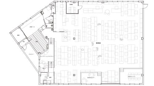 エコワークス新本社の2階平面図(資料:エコワークス)