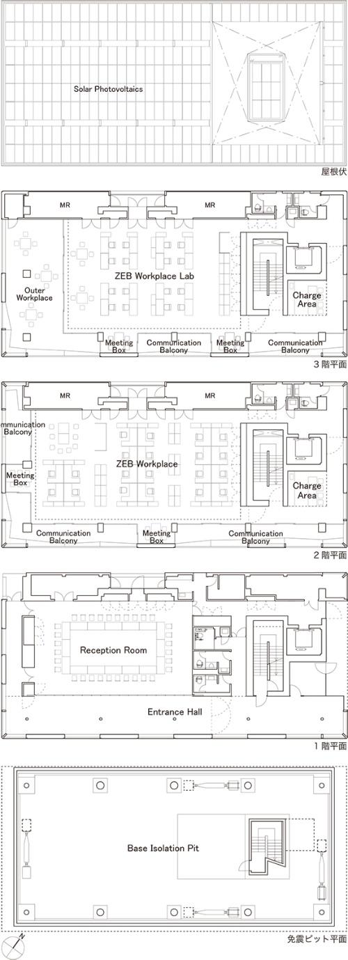 各階平面図(資料:大成建設)