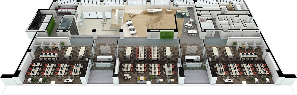 2階平面パース(資料:三菱電機)