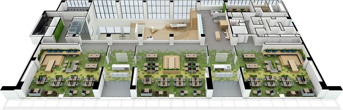 3階平面パース(資料:三菱電機)