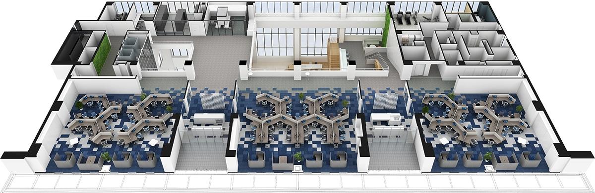 4階平面パース(資料:三菱電機)
