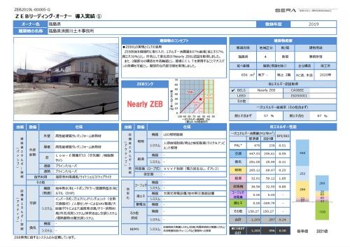 福島県須賀川土木事務所のZEBデータ(資料:環境共創イニシアチブ)