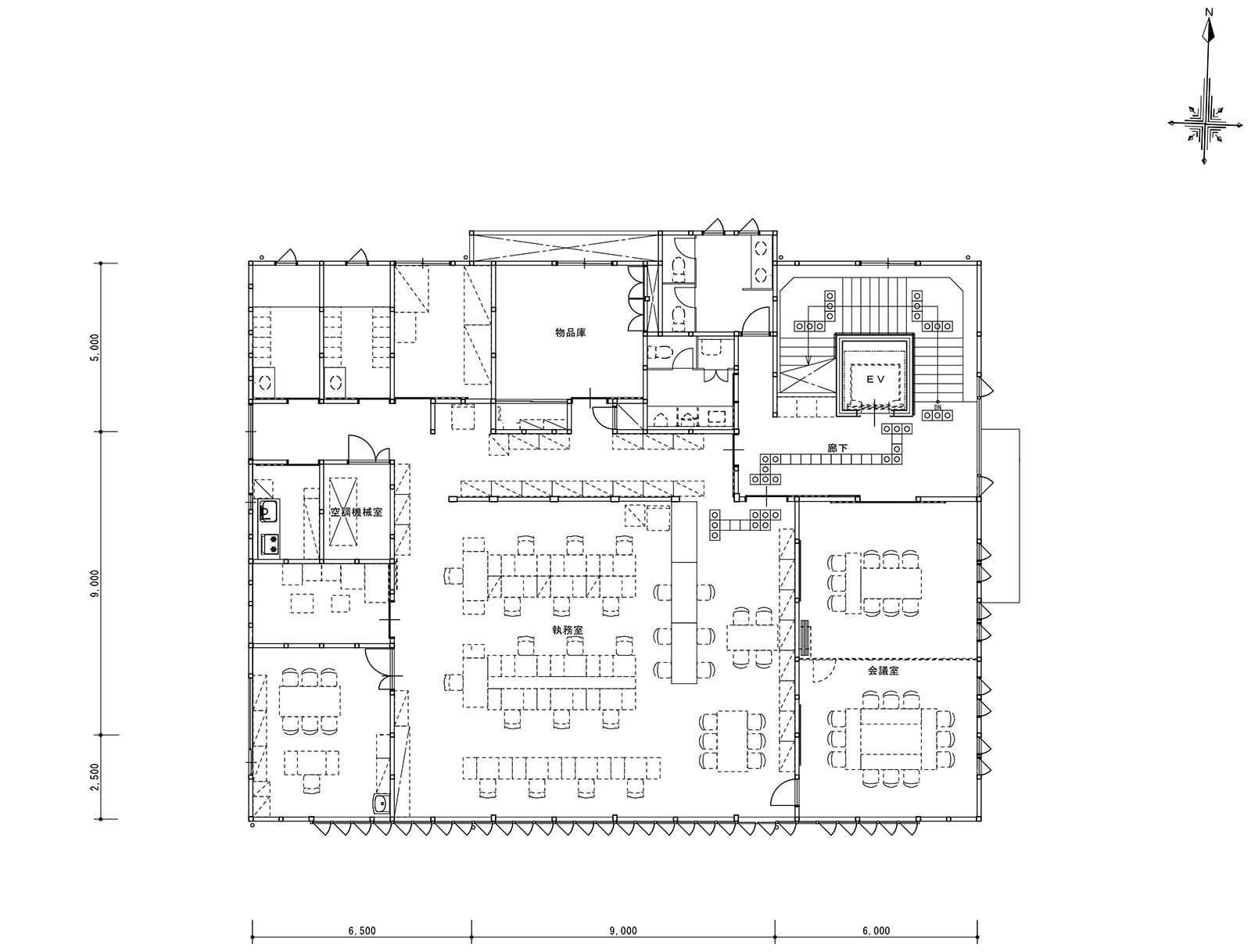 2階平面図(資料:福島県県中建設事務所)