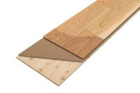 天然銘木単板、高密度MDF、国産材合板の3層構造(資料:ノダ)