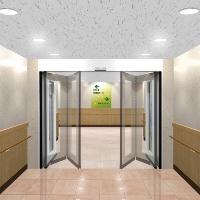「自動折り戸」の設置イメージ(資料:三和シヤッター工業)