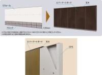 化粧建材「エバーアートボード」を貼って仕上げる(資料:タカショー)