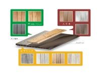 「選べるデッキ」は、アルミベースの上に固定するデッキ面材を、素材や色の異なる10種類から選べる(資料:セイキ総業)
