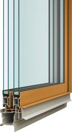 フレームはアルミ樹脂複合構造で、室内側に樹脂を採用した(資料:YKK AP)