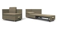 ソファからベッドに簡単に変えられる「病室家具HCシリーズ ソファベッド」(資料:イトーキ)