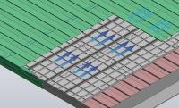 既存屋根に断熱材ブロックを敷き詰めて新たな金属屋根を施工する(資料:カナメ)