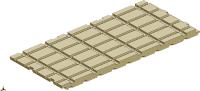 断熱材ブロックの有効寸法は幅910×長さ1155×高さ50mm(資料:カナメ)