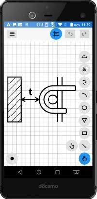 曲線や円を簡単に作図できる(資料:建設システム)