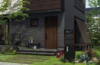 玄関ドアと組み合わせた施工例(資料:YKK AP)