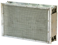 電子式集塵技術を使ったメインフィルター(資料:OMソーラー)