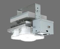 LED照明に映像録画機能付きカメラを搭載している(資料:東芝ライテック)