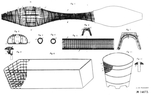 図1 モニエによる鉄筋コンクリートの特許図