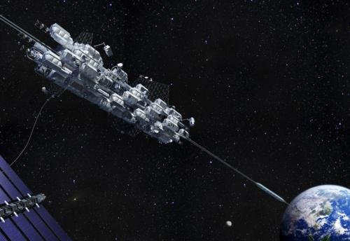 図1 大林組が構想する宇宙エレベーター