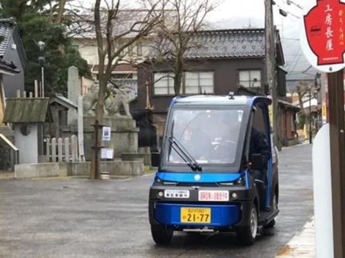 写真●石川県輪島市の公共交通サービス自動走行の実験車両