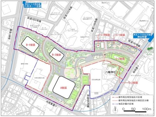 公表されている「虎ノ門・麻布台地区」再開発の計画概要から。高さ約330m、約270m、約240mの超高層3棟を含む、都内随一の大規模開発プロジェクトだ(出所:首相官邸ホームページ「国家戦略特別区域会議東京都都市再生分科会」2017年1月10日)