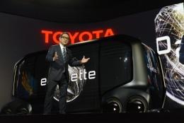 図1 2020年の東京五輪で自動運転車を走らせるトヨタ