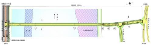 羽田連絡道路の平面図(資料:川崎市)